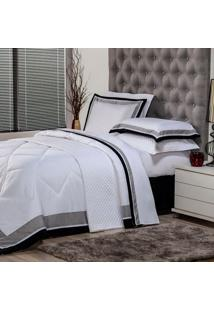 Edredom Casal Soft Comfort Poliéster Branco