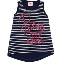Regata Para Menina Azul Marinho Branca infantil  15a3b69d60710