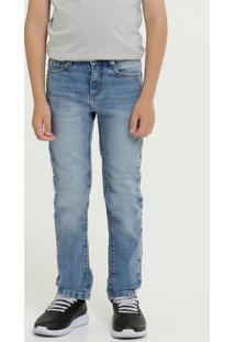 Calça Infantil Jeans Reta Mr