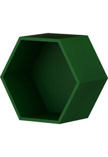 Nicho Decorativo Hexagonal Leblon Verde - Orb