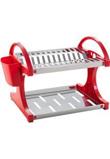 Escorredor De Pratos De Aço Inox, Capacidade Para 12 Unidades + Sup.