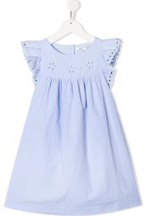 Knot Vestido Camille Com Listras De Algodão - Azul