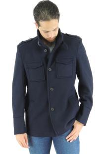 Casaco Masculino Oregon Em Lã Premium - Masculino-Marinho