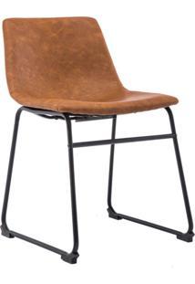 Cadeira De Escritório Interlocutor Bruna Marrom