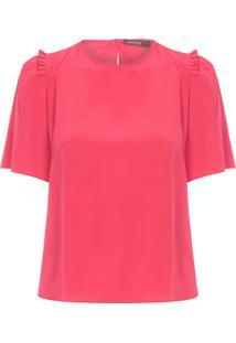 Camiseta Feminina Hapiness - Vermelho