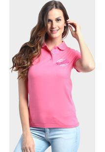 Camiseta Polo New Balance Cb Boucle - Feminino-Rosa