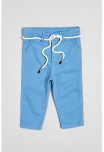 Calça Infantil Reserva Estique-Se Alfaiate Masculina - Masculino-Azul Petróleo