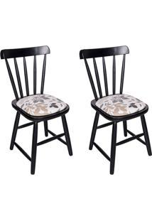 Conjunto Com 2 Cadeiras Espanha Preto