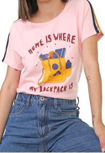 Camiseta Cantão Classic Mochila Rosa - Kanui