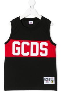 Gcds Kids Regata Com Estampa De Logo - Preto