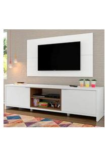 Rack Madesa Metz E Painel Para Tv Até 55 Polegadas Branco/Rustic Branco