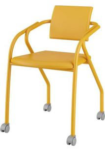 Cadeira 1713 Cor Amarela Com Napa Amarela - 27685 - Sun House