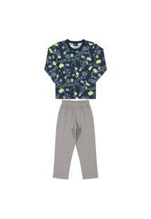 Pijama Com Calça E Camiseta Estampada Qu
