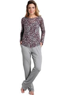 16241db4a Pijama Longo Inspirate Triplex Devorê - Feminino
