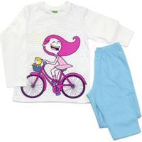 dd71d63e7304be Pijama Para Menina Azul Manga Longa infantil | Shoes4you