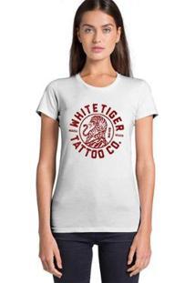 Camiseta Feminina Joss Whitetiger - Feminino-Branco