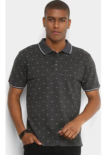 4a875749960 Camisa Polo Broken Rules Piquet Mini Estampa Escamas Masculina - Masculino