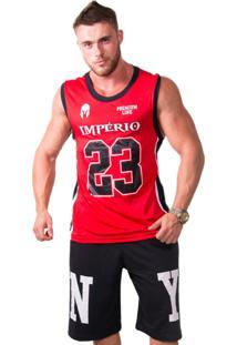 Camiseta Regata Basquete Império Fitness 23 Vermelha