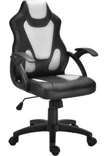 Cadeira Gamer Lux Preta E Branca