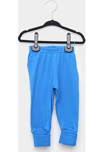 Calça Bebê Marlan Suedine - Masculino-Azul