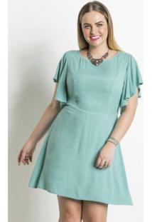 0e537f608 Vestido Mullet Turquesa Plus Size Quintess - Feminino-Azul Turquesa