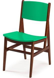 Cadeira Dumon Cor Cacau Com Verde Anis - 30800 Sun House