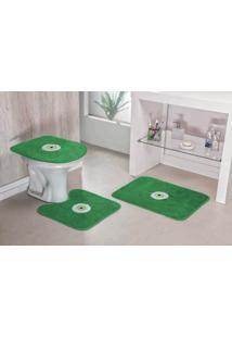 Jogo De Banheiro Guga Tapetes Olho Grego 03 Pçs Verde Bandeira