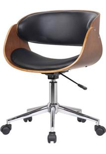 Cadeira Deise Base Rodizio Cor Preta - 29957 - Sun House