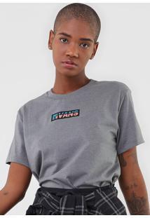 Camiseta Vans Jay Quellin Cinza - Cinza - Feminino - Dafiti