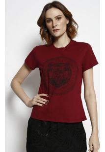 """Camiseta """"Tigre""""- Bordã´ & Preta- Tritontriton"""
