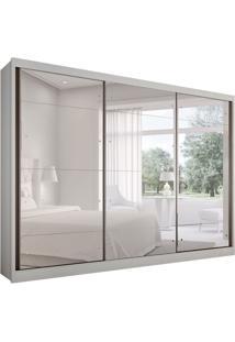 Guarda-Roupa Casal Com Espelho Passion 3 Pt 6 Gv Branco