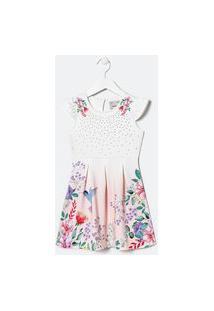 Vestido Infantil Com Estampa Floral E Strass - Tam 5 A 14 Anos | Fuzarka (5 A 14 Anos) | Multicores | 7-8