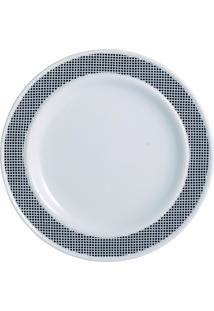 Prato Para Sobremesa Porcelana Schmidt - Dec. Luna