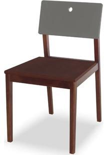 Cadeira Flip Cor Cacau Com Encosto Fendi