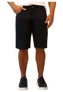 Bermuda Jeans Masculina Sandro Moscoloni Basic Preto Black