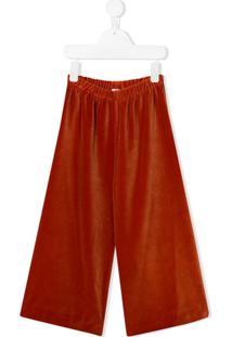 Il Gufo Calça Pantalona De Tricô - Laranja