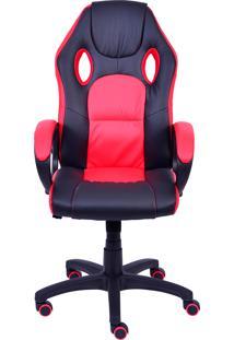 Cadeira De Escritório Raptor - Preta Com Vermelho