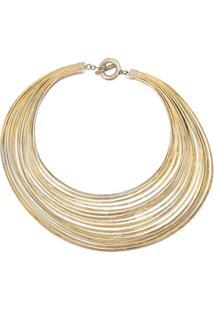Josie Natori Colar Com Pingente De Espiral - Dourado