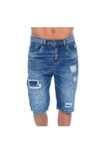 Bermuda Jeans Puídos Emporio Alex