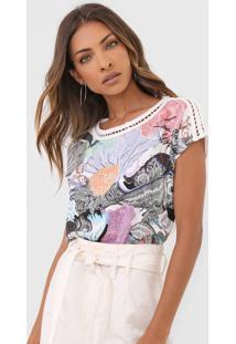 Camiseta Desigual Viena Off-White
