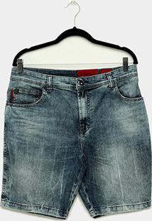 Bermuda Jeans Ellus Deep Blue Elastic Masculina - Masculino-Azul