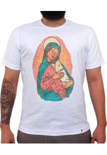 Madonna Y Bebe Burrito - Camiseta Clássica Masculina