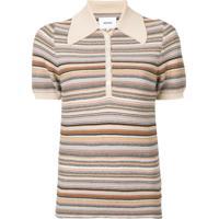 3b2d39ca43 Farfetch. Nanushka Quinoa Polo Shirt - Neutro