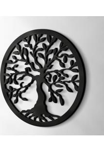 Objeto Decorativo Treelife Preto 40 Cm