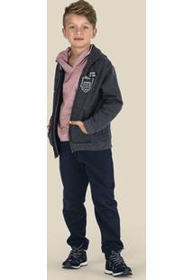 Conjunto Infantil Menino Com Jaqueta E Calça Em Moletom Puc [] []