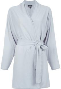 Emporio Armani Kimono De Cashmere - Azul