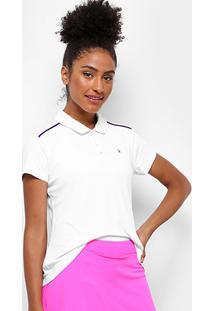 Camisa Polo Fila Basic Ii Feminina - Feminino-Branco+Rosa