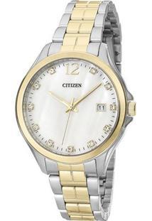 Relógio Analógico Tz28397M- Prateado & Dourado- Citicitizen