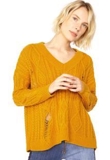 Suéter Destroyed Decote V