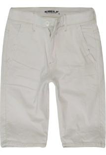 Bermuda Masculina Slim Color Branco - Branco - Masculino - Dafiti